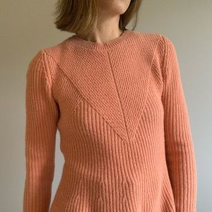 ANN TAYLOR Coral long sleeve sweater Size M/P
